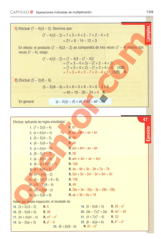 Aritmética de Baldor - Página 109