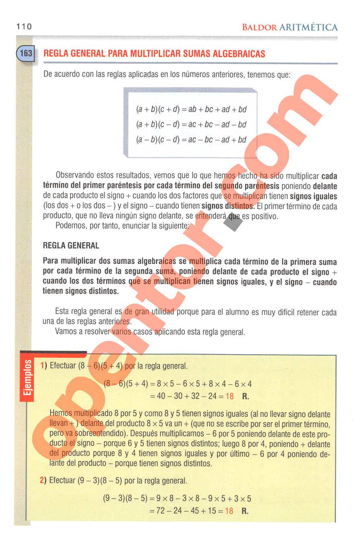 Aritmética de Baldor - Página 110