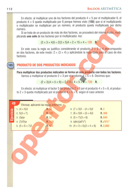 Aritmética de Baldor - Página 112