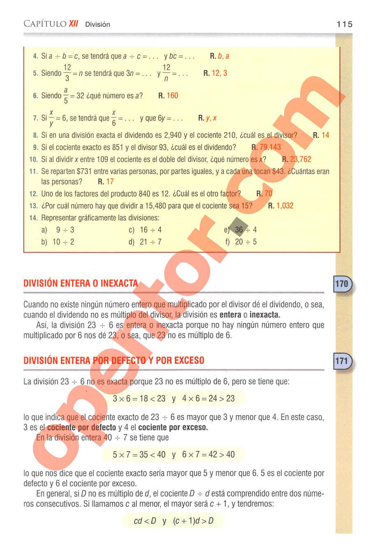 Aritmética de Baldor - Página 115