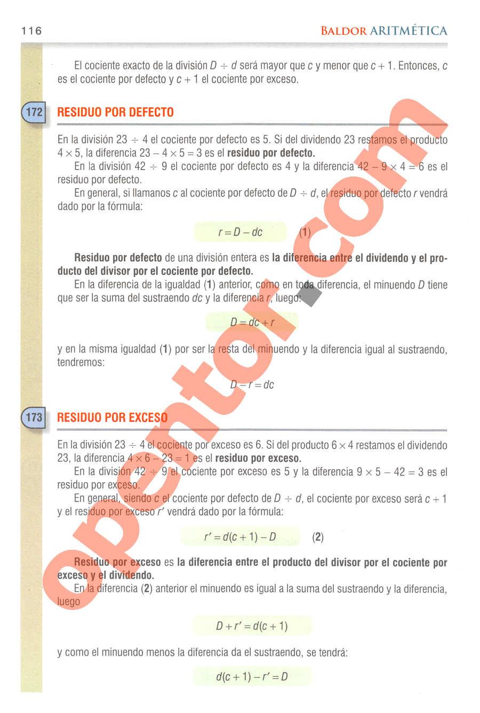 Aritmética de Baldor - Página 116