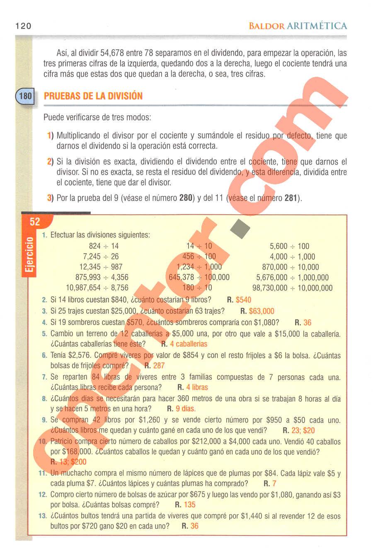 Aritmética de Baldor - Página 120