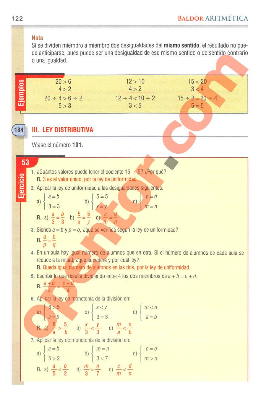 Aritmética de Baldor - Página 122