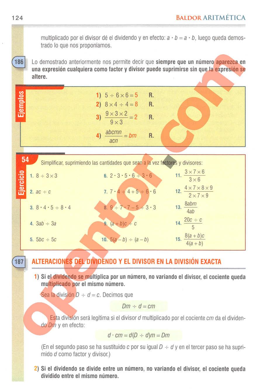 Aritmética de Baldor - Página 124