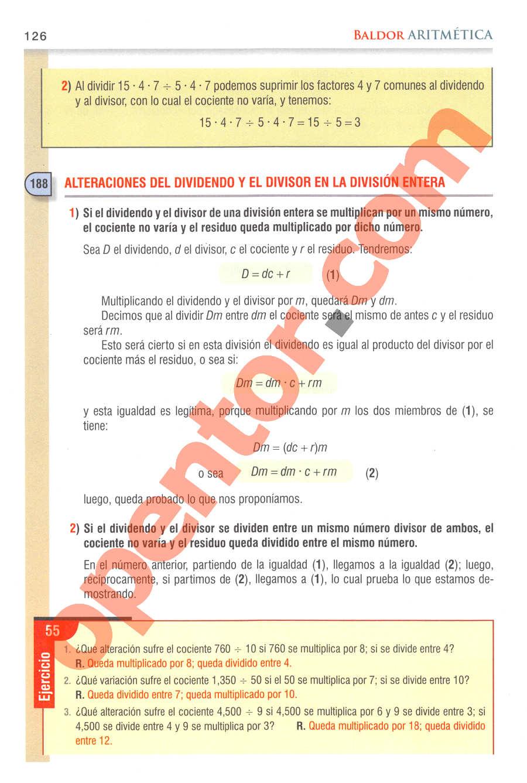 Aritmética de Baldor - Página 126