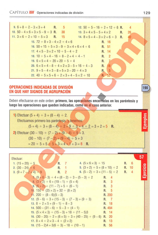 Aritmética de Baldor - Página 129