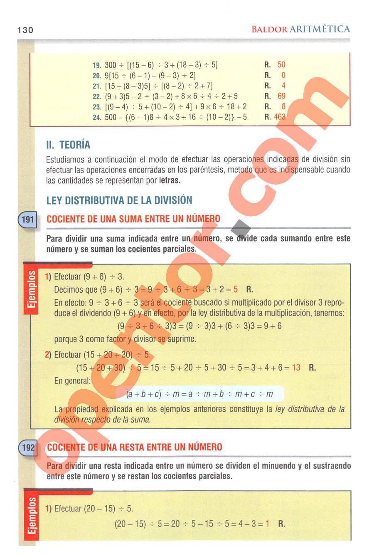 Aritmética de Baldor - Página 130