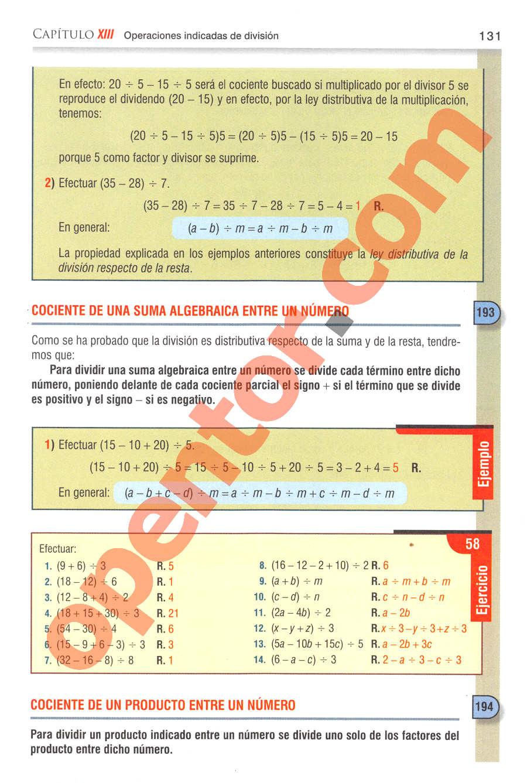 Aritmética de Baldor - Página 131