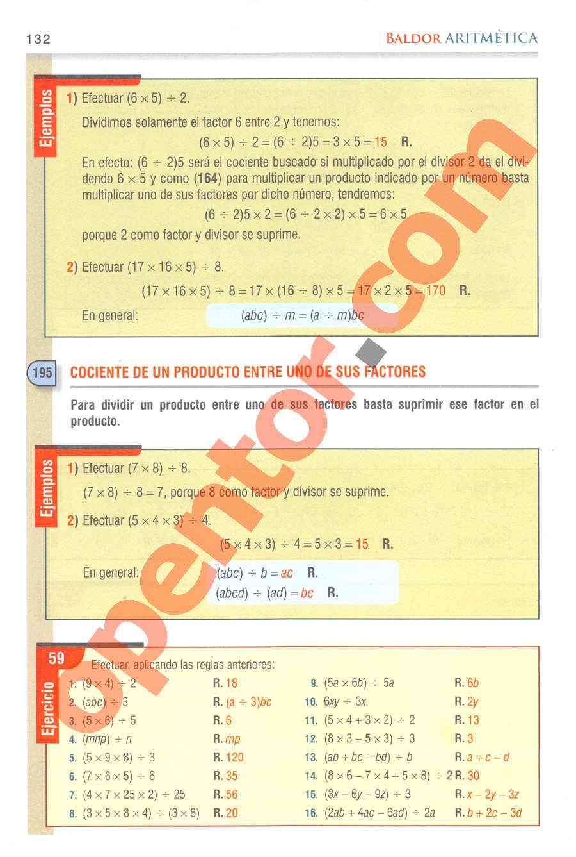 Aritmética de Baldor - Página 132