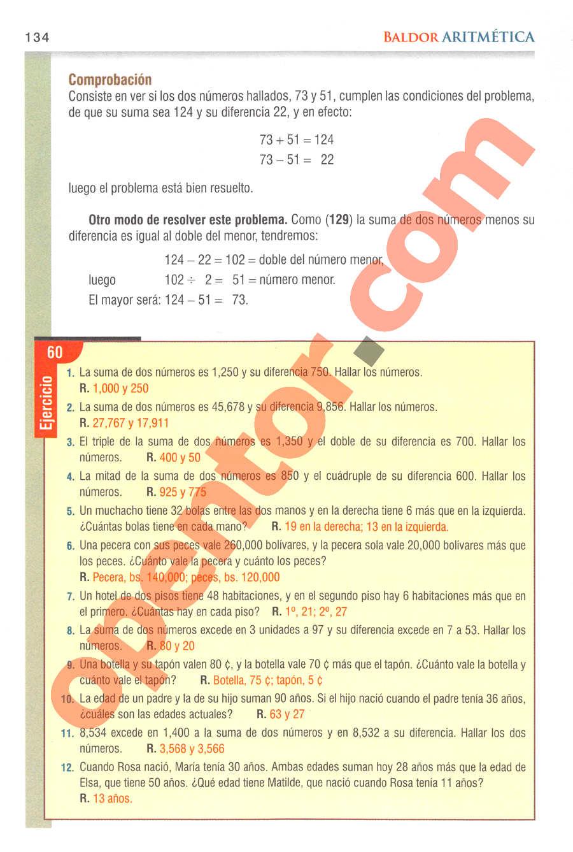Aritmética de Baldor - Página 134
