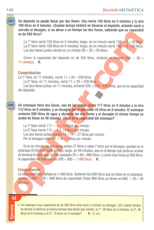 Aritmética de Baldor - Página 142