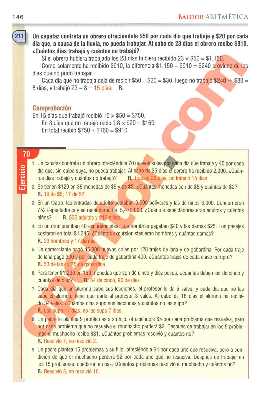Aritmética de Baldor - Página 146