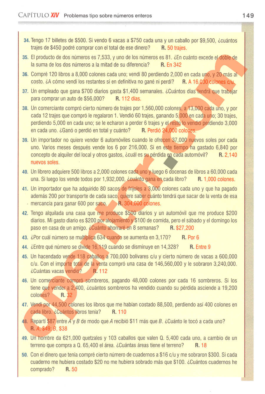 Aritmética de Baldor - Página 149