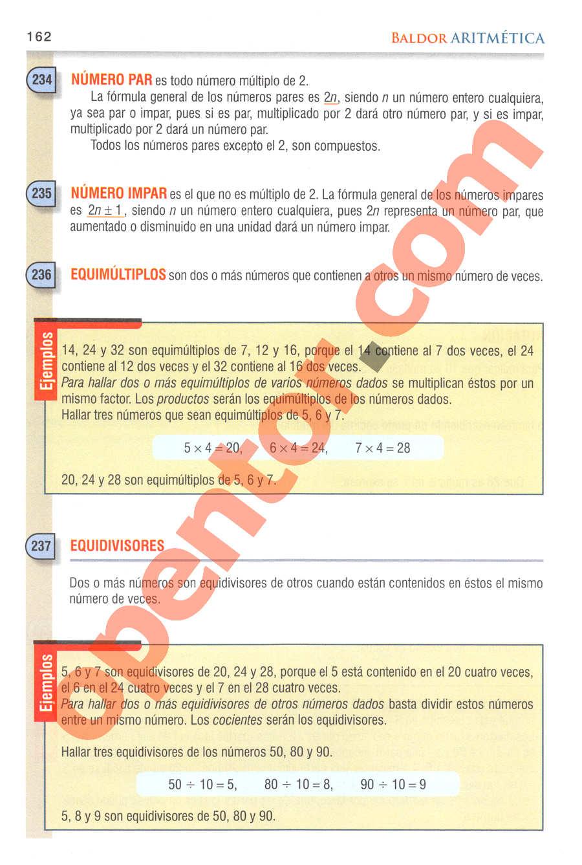 Aritmética de Baldor - Página 189