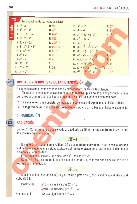 Aritmética de Baldor - Página 195