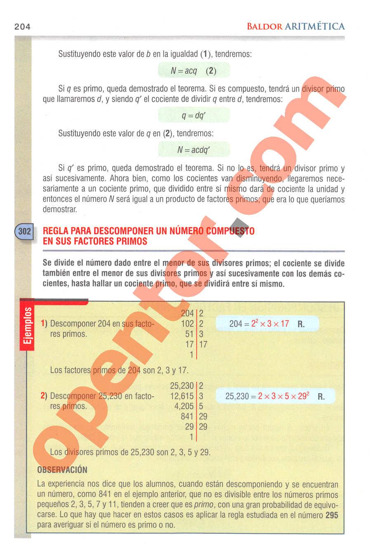 Aritmética de Baldor - Página 204