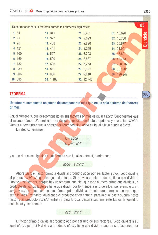 Aritmética de Baldor - Página 205