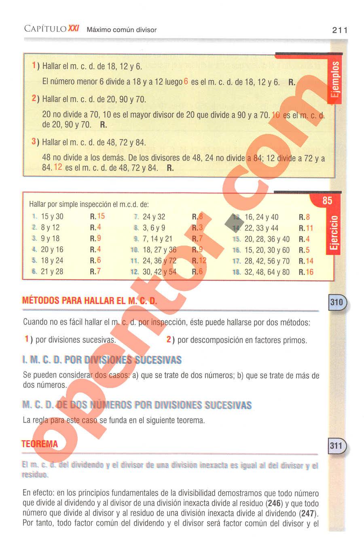 Aritmética de Baldor - Página 211