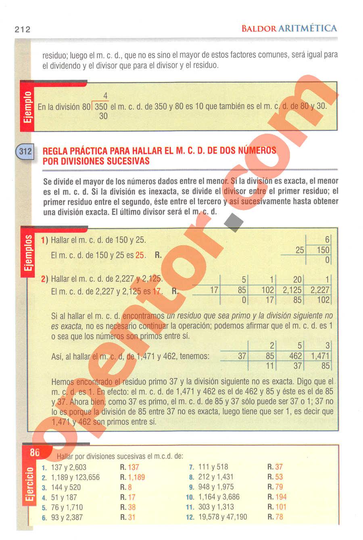 Aritmética de Baldor - Página 212