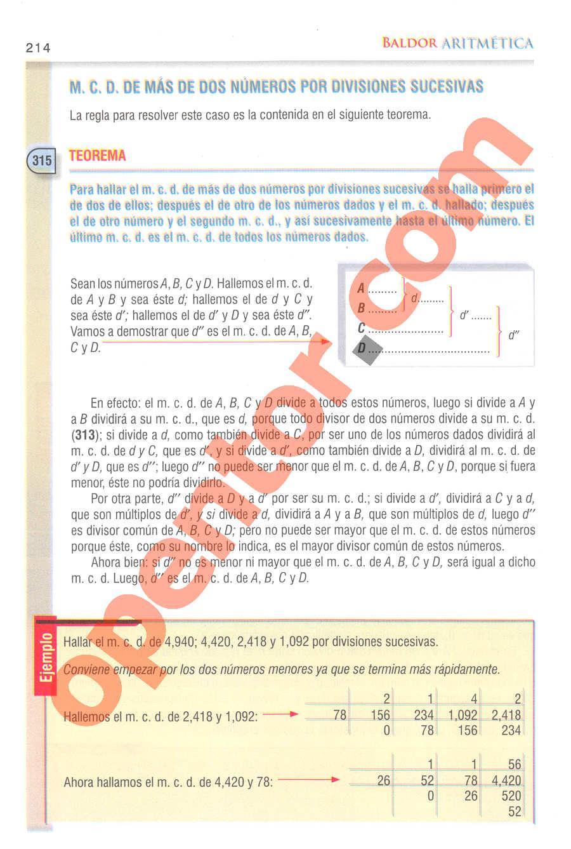 Aritmética de Baldor - Página 214