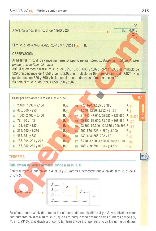 Aritmética de Baldor - Página 215