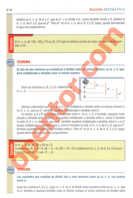 Aritmética de Baldor - Página 216