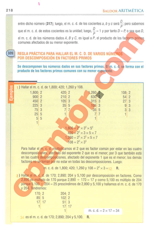 Aritmética de Baldor - Página 218