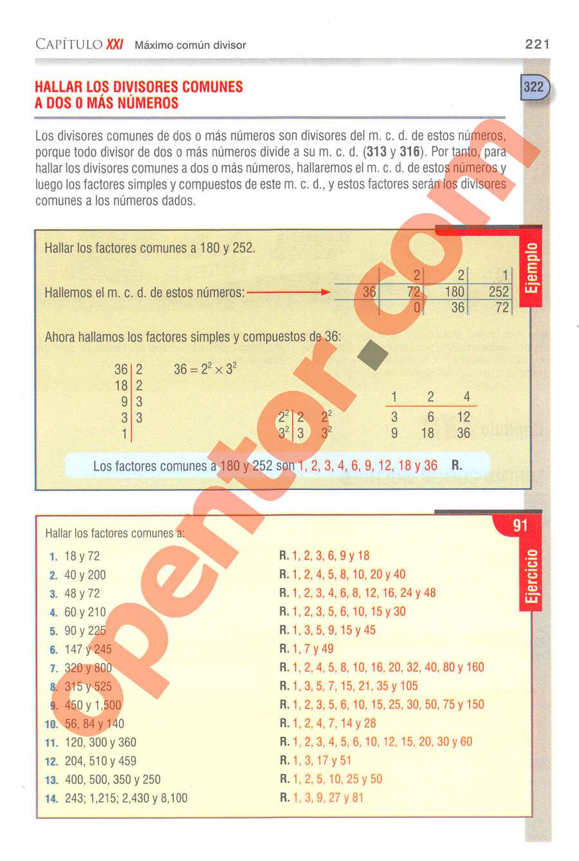 Aritmética de Baldor - Página 221