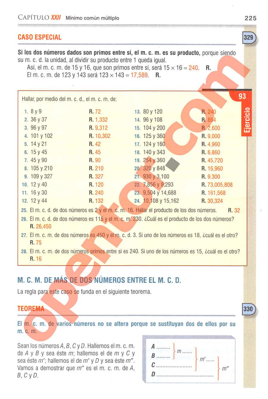 Aritmética de Baldor - Página 225