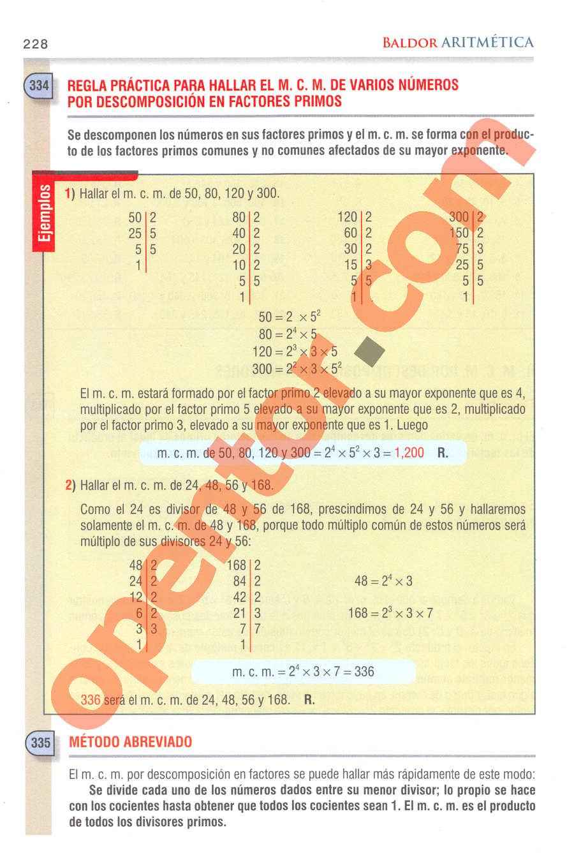 Aritmética de Baldor - Página 228