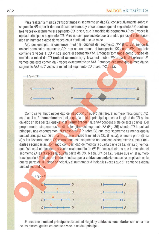 Aritmética de Baldor - Página 232