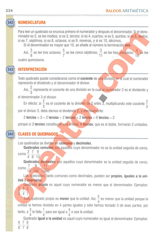 Aritmética de Baldor - Página 234