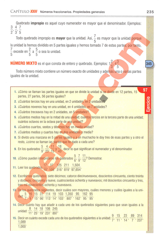 Aritmética de Baldor - Página 235