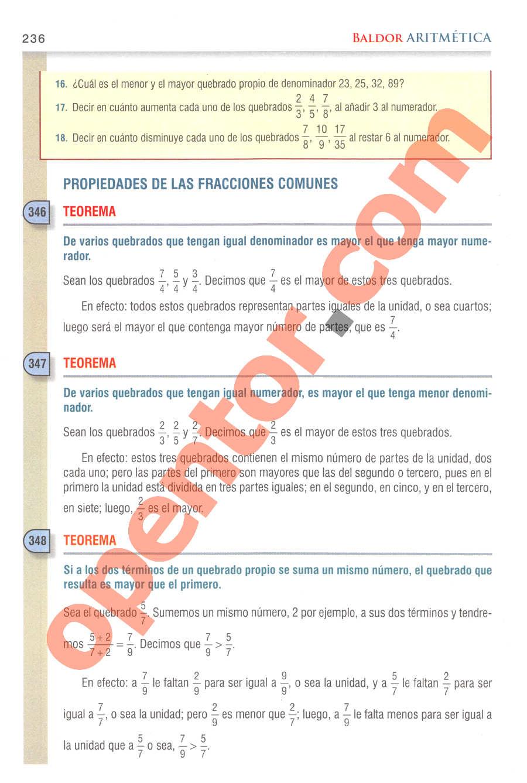 Aritmética de Baldor - Página 236