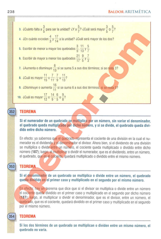 Aritmética de Baldor - Página 238