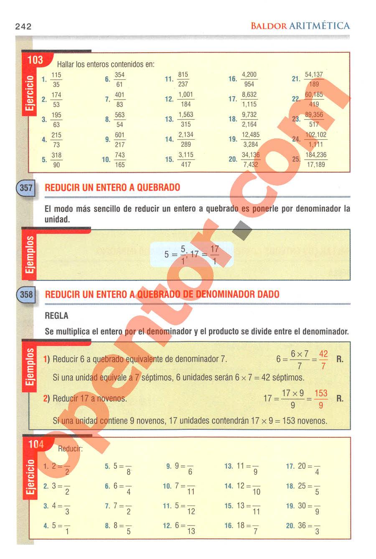 Aritmética de Baldor - Página 242