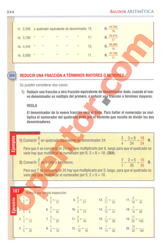 Aritmética de Baldor - Página 244