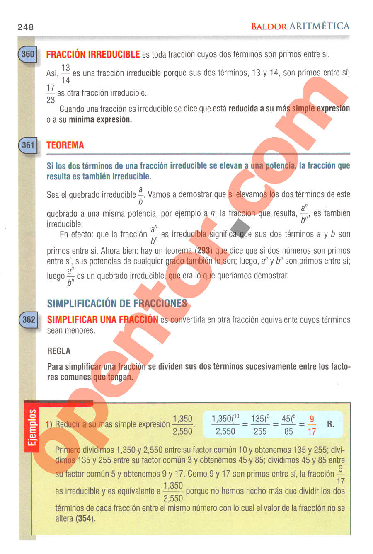 Aritmética de Baldor - Página 248