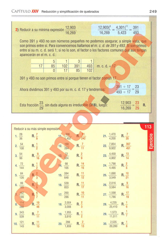 Aritmética de Baldor - Página 249