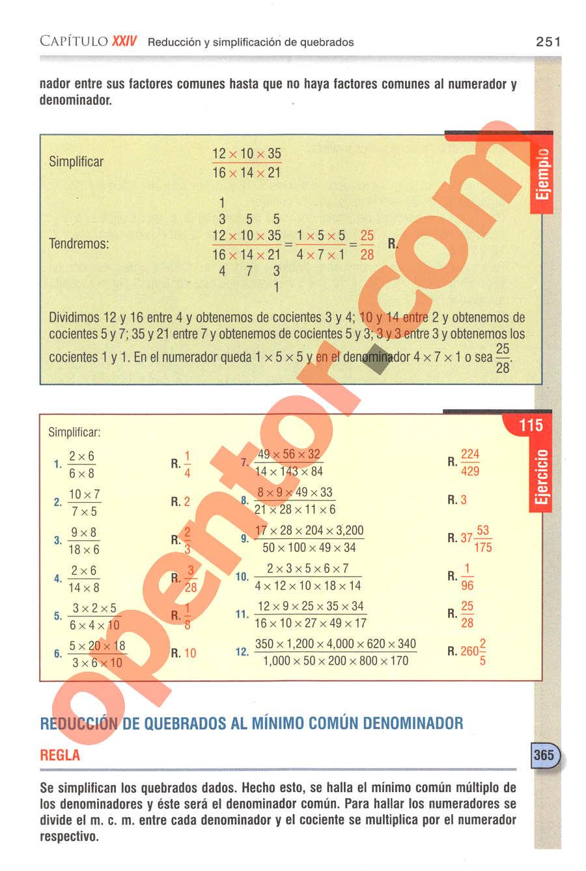 Aritmética de Baldor - Página 251