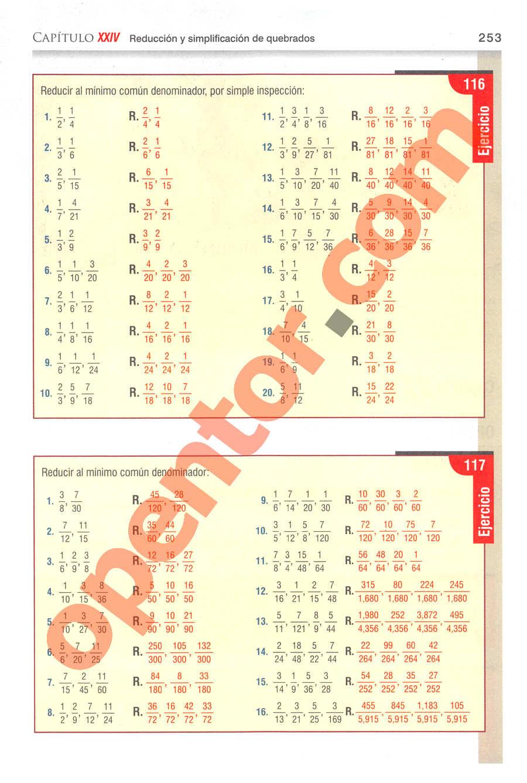 Aritmética de Baldor - Página 253
