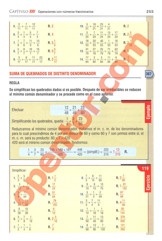 Aritmética de Baldor - Página 255