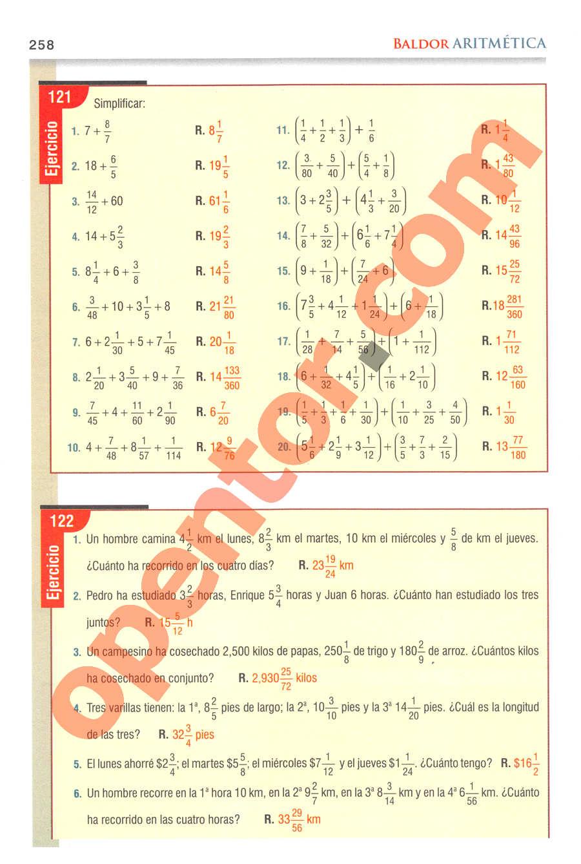 Aritmética de Baldor - Página 258