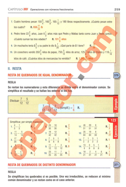 Aritmética de Baldor - Página 259