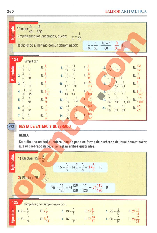 Aritmética de Baldor - Página 260