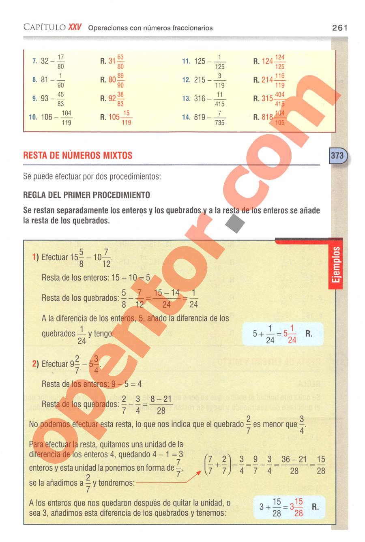 Aritmética de Baldor - Página 261