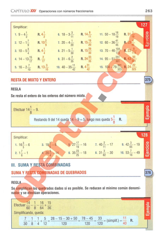 Aritmética de Baldor - Página 263