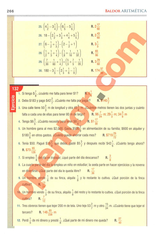 Aritmética de Baldor - Página 266
