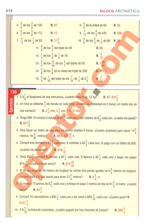 Aritmética de Baldor - Página 272