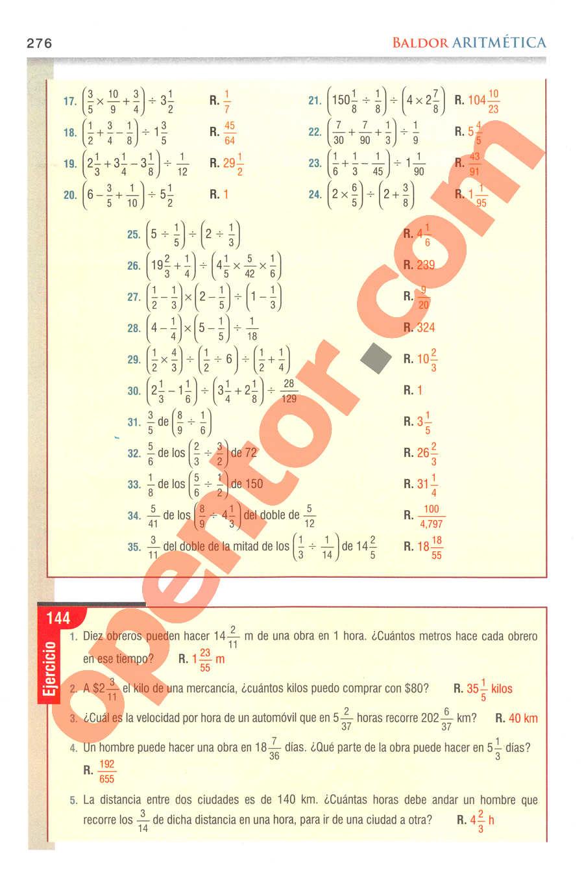 Aritmética de Baldor - Página 276